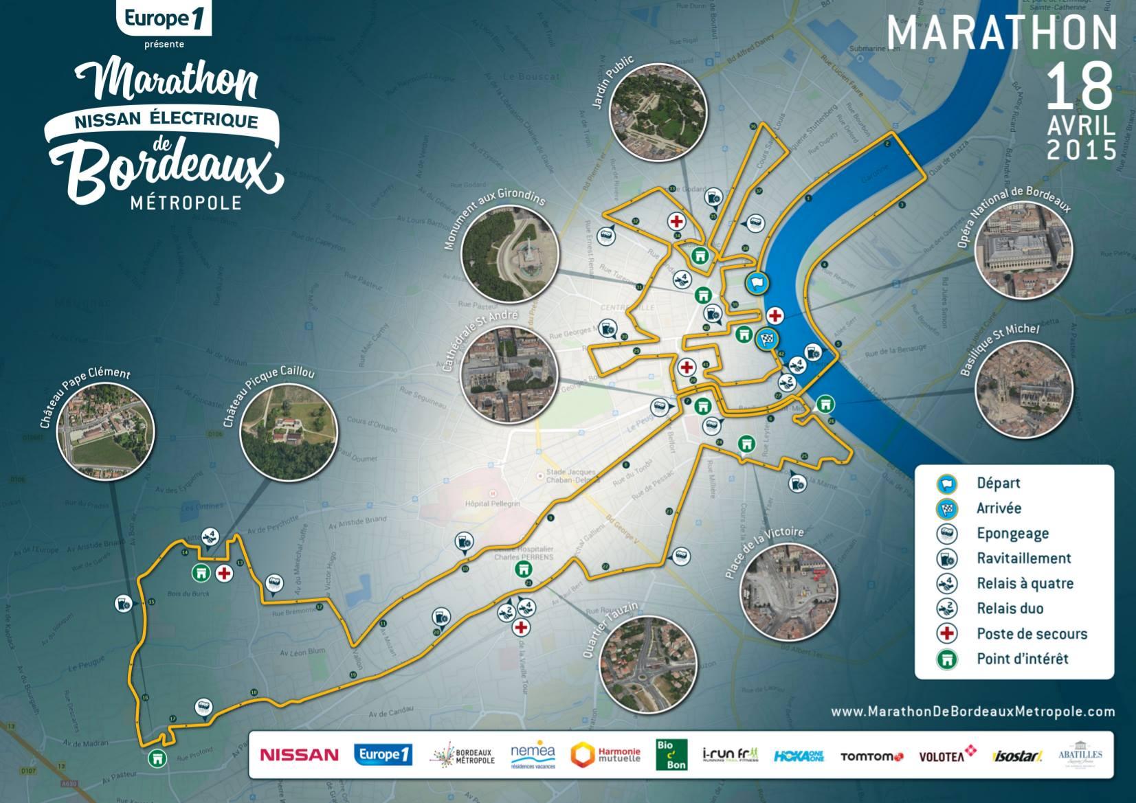 Parcours de Marathon de Bordeaux